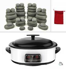 Hot Stone Massage Kit 36 Basalt Stones (in Bag) 6 Litre Digital Heater