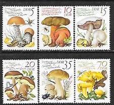 GERMANY DDR 1980 EDIBLE MUSHROOMS SC # 2137-2142 MNH