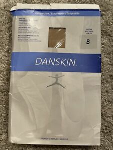 Danskin Women's Compression Footed Dance Tight, Light Toast, Size B