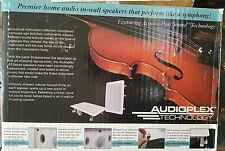 AUDIOPLEX New Flatbox LARGE Wall Mount Surround, Center, LCR Speaker WHITE PAIR
