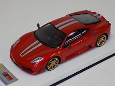 1/18 Looksmart MR Ferrari F430 Scuderia Metallic Red Silver Stripe Gold Wheels