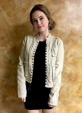 Patrick Robinson For Target Small Khaki Look Hook And Eye Detail Closure Jacket