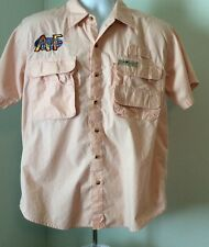 Hook & Tackle Outfitters Mens Large  Fishing Vented Button Up Shirt