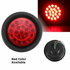 LED Round Trailer Rear Tail Light Stop Indicator Brake Lamp Truck Lorry Boat Red
