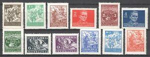 YUGOSLAVIA 1945 - Marshal Tito PARTIZANS COMMUNISM MI. 470/485 MNH SET