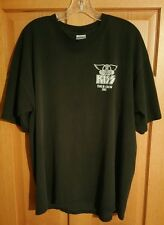Kiss Aerosmith Rocksimus Maximus World Domination Used Tour Crew XL Shirt