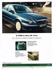 PUBLICITE ADVERTISING 045  2002  JAGUAR   X-TYPE2  V6