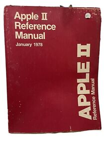 Vintage 1978 Apple II Reference Manual - The RED Book