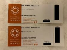Two New tickets for California Academy Of Science (Expires 12/31/2020)