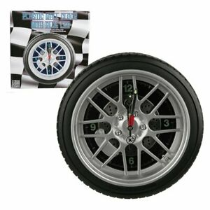 Wanduhr Uhr Reifen Auto Felge Motorsport blaue LED Beleuchtung Ø 35cm NEU/OVP