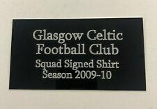 Glasgow Celtic 2009-10 - 130x70mm Engraved Plaque / Plate for Signed Memorabilia