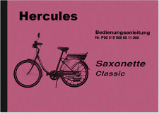 Hercules Sachs Saxonette Classic Bedienungsanleitung Betriebsanleitung Handbuch