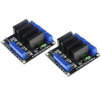 2 x Four Channel 5V OMRON Low Level Trigger Solid State Relay Module For Arduino
