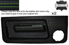 GREEN Stitch 2x FRONT DOOR card pelle copre gli accoppiamenti RENAULT 5 GT TURBO Phase 1 MK1