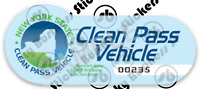 Glossy Novelty New York Clean Pass Vehicle (CPV) Long Island Expressway Sticker