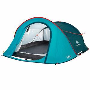 NEW | Decathlon Quechua 2 Second Pop Up Camping Tent | FITS 3 | WATERPROOF