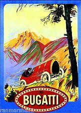 1912 Bugatti France Automobile Car Racing Vintage Advertisement Art Poster Print