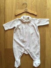 emile et rose Pale Pink Velour Sleep Suit Babygrow Age 3-6 Months 68cm & Hangar