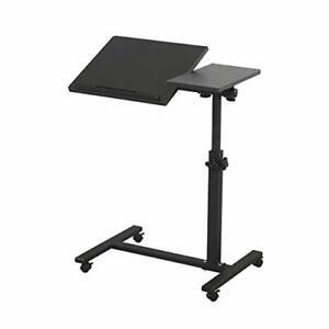 TigerDad Overbed Bedside Desk Mobile Rolling Laptop Stand Tilting Overbed Table