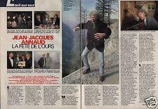 Coupure de presse Clipping 1989 Jean Jacques Annaud la fête de l'Ours  (2 pages)