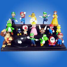 "A Super Mario Bros 1.5~2.5"" Lot 18 pcs Action Figure Cute Doll Playset Figurine"