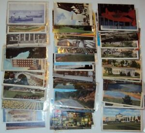 110 Illinois Sleeved Postcards, Views & Topics