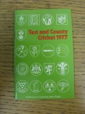 circa 1977 Cricket: Test and County Cricket 1977 - List Of First Class John Play