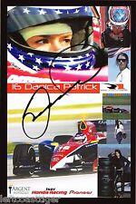Danica Patrick Autographed 8 1/2 x 5 1/2 Indy Nascar Go Daddy JSA COA