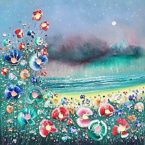 The Storm & Flowers in Love, a large original oil painting on canvas, Phil Broad