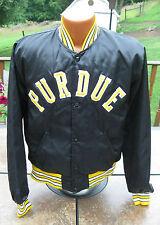 Vintage 1990's PURDUE BOILERMAKERS Player Game Used Satin Sideline Jacket Rare