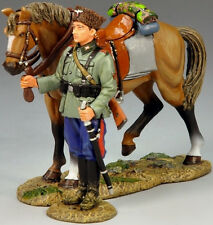 KING & COUNTRY WW2 GERMAN ARMY WS147 STANDING COSSACK AND HORSE MIB