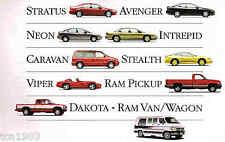 1995 Dodge SPIRIT/RAM/VIPER/INTREPID/DAKOTA/STEALTH/NEON Brochure;PickUp Truck
