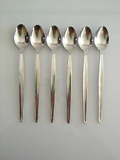 SODA/PARFAIT SPOON 6 PACK  CUTLERY STAINLESS STEEL LONG TEA SPOON FOR CAFE REST.