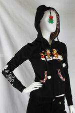 Paul Frank Julius Friends XXS $78 Black Joy to World Hoodie Holly Berries NWT