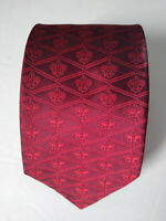 BSA Boy Scouts of America TIE Adult RED with LOGO 100% Silk Las Vegas Extra Long