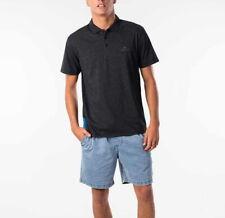 RIP CURL Mens Pivot Polo Shirt Short Sleeve Polo Black Marble