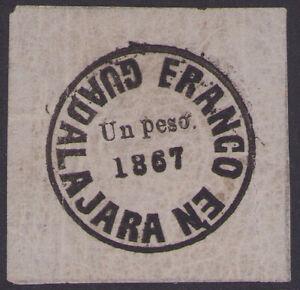 dd59 Mexico Provisional GDA #32 Un Peso Lilac Quadrille paper MOG est $10-20 VF