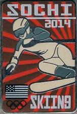 Unique 2014 Sochi Poster Style Alpine Skiing USA Olympic Team NOC Pin