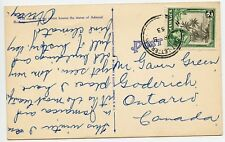 Jamaica Vintage Postcard to Goderich On Canada 1953