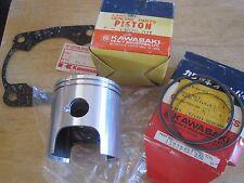 KAWASAKI NOS RARE PISTON & RINGS +0.50mm + BASE GASKET KT250 13029-071 13025-057