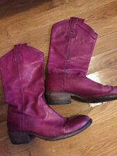 Magenta Frye Boots Berry Size 9.5