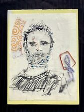 THE OTHER.. Figure Drawing Portrait Collage w Objects Steven Tannenbaum Original