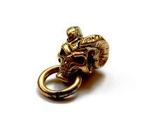 Gold Brass EDC Ram Skull Paracord Knife Tool Lanyard Bead Bracelet Accessory