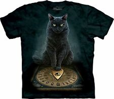 NEW HIS MASTERS VOICE Green Cat Kitty Ouija Lisa Parker The Mountain T Shirt