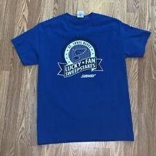 St Louis Blues Fan Sweepstakes Subway T-Shirt Blue Medium