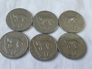 1 x 2001 20 cent Tasmania TAS- Circ very Rare