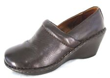 Bjorndal Shoes Sz 7.5 Brown Leather Melissa Occupational Nurse Clogs Wedge Heels
