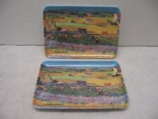 Melamine Ware Artist Arles countryside VVG Trinket or Spoon Rests Italy Set of 2