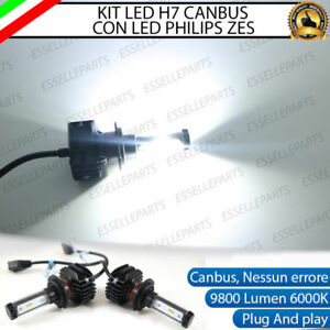 KIT FULL LED OPEL CORSA D RESTYLING LAMPADE H7 6000K BIANCO 9800 LUMEN CANBUS