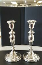 Vintage Pair Of Empire Sterling Silver Weighted Candle Stick Holders 40
